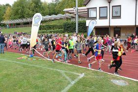 Der Kreisbeigeordnete Herr Lauerbach startet den Lauf.